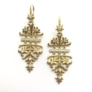 Lalaounis Aurelia Gold and Diamond Earrings